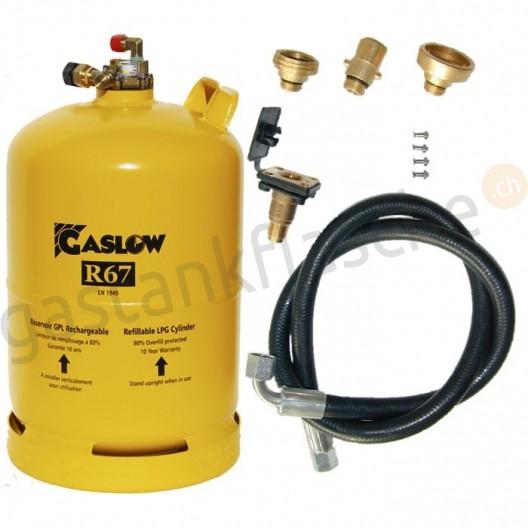 Gaslow Tankflasche 6kg/11kg mit Füllset