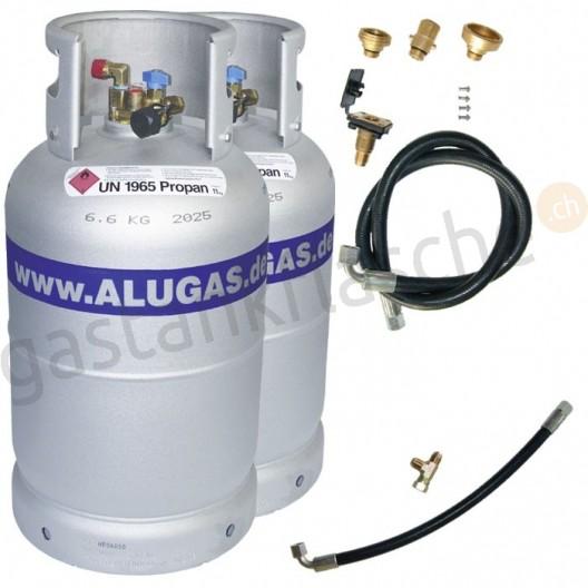 ALUGAS 2-Tankflaschensystem 11kg/14kg