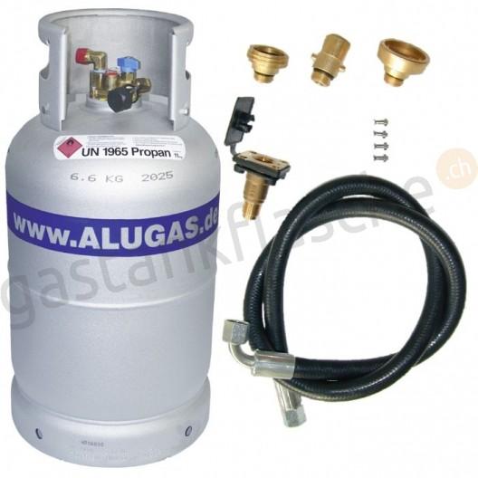 ALUGAS Tankflasche 11kg/14kg mit Füllset
