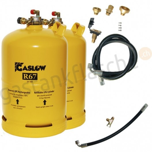 Gaslow 2-Tankflaschensystem 6kg/11kg