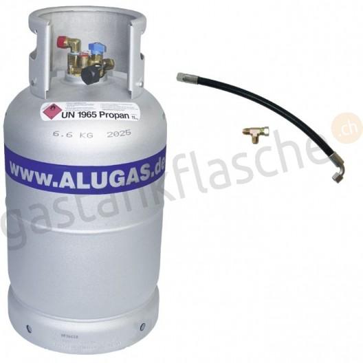 ALUGAS Tankflasche 11kg/14kg mit Zweitflaschenset